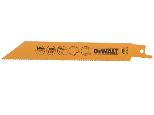 DeWalt DT2361QZ 152mm Lame de scie alternative Bimétal Coupe rapide Métaux/Plaques métalliques (Import Grande Bretagne)
