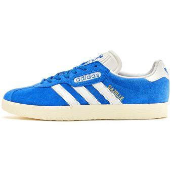 Adidas Originals Gazelle Super chamois Formateurs en Bleu