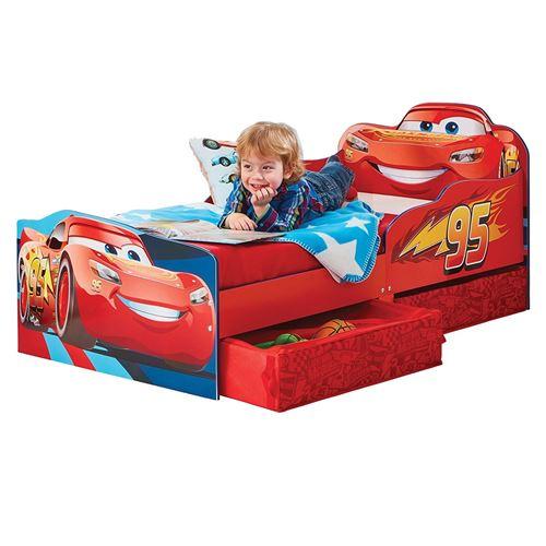 Lit Design Flash McQueen avec tiroirs de rangement et matelas