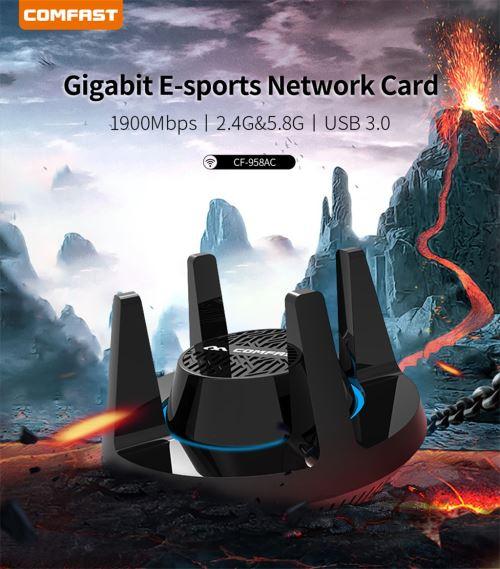 COMFAST Cf-958 Ac Haute Puissance 1900 Mbps Externe 4 X 3 Dbi Antennes Adap C0S6