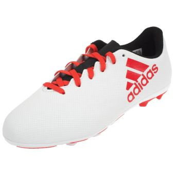 Chaussures football lamelles adidas x 17.4 fxg jr blanc
