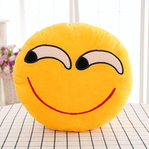 Rond Coussin Oreiller Emoji en PP Coton Peluche 30cm #14#14