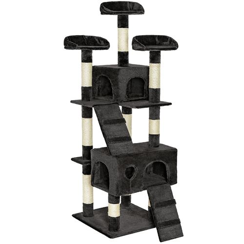 TecTake Arbre à chat MOGLI 170 cm - noir