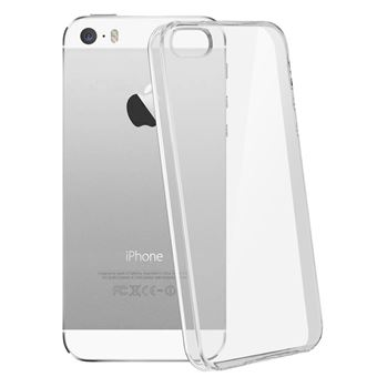 Coque iPhone SE , 5 et 5s Protection silicone gel ultra-fine transparente