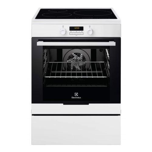 Electrolux EKI6771TOW - Cuisinière - pose libre - largeur : 59.6 cm - profondeur : 60 cm - hauteur : 85 cm - avec système auto-nettoyant - blanc
