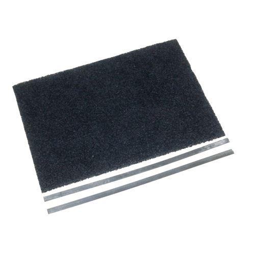 Filtre charbon (30,5x22,5cm + 2 tringles de fixation (à l'unité) Hotte 74X5226 BRANDT, SAUTER - 61624