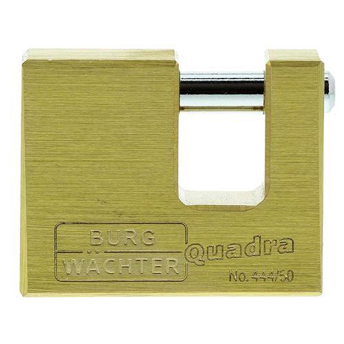 Burg-Wächter Quadra 444 50 SB 7 mm d'épaisseur, Tenaille, 2 clés, Cadenas – Lot de 1