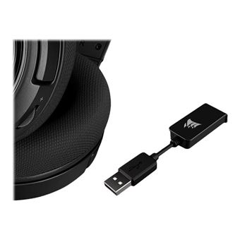 CORSAIR Gaming HS45 SURROUND - Koptelefoon - over oor - met bekabeling - USB, 3,5 mm-stekker - koolstof