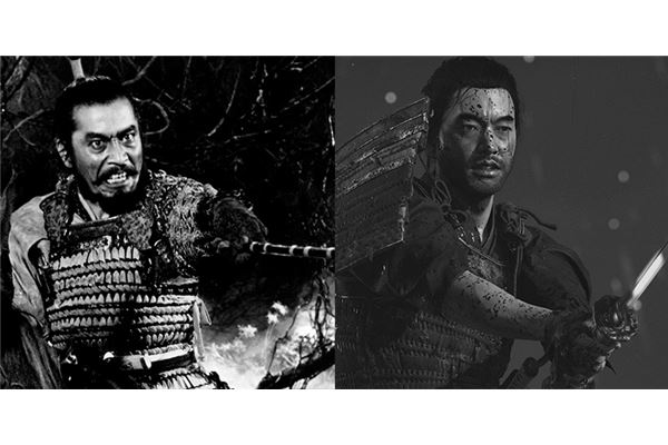 samurais akira kurosawa y ghost of tsushima