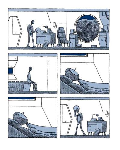 Tom Gauld Un policia en la luna