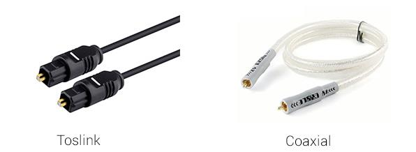 cables Toslink Coaxial