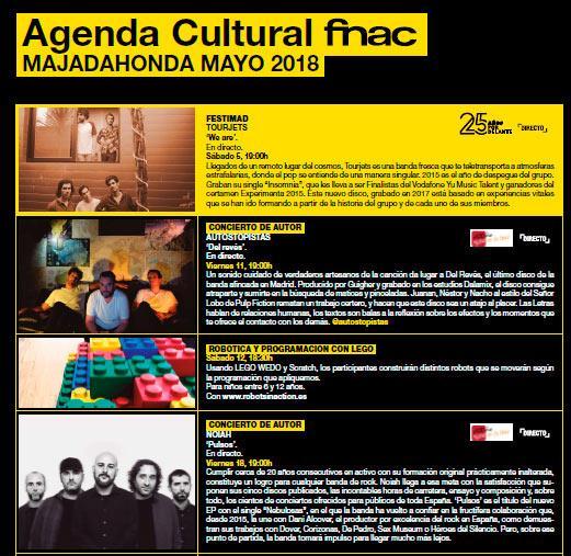 agenda fnac majadahonda mayo 2018