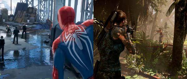 videojuegos - septiembre 2018 - Spiderman PS4 - Tomb Raider