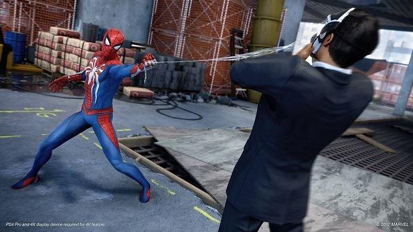 Spiderman PS4 videojuego