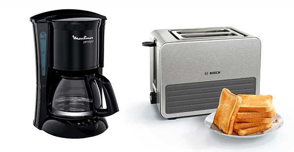 electrodometicos para desayuno - moulinex y bosch