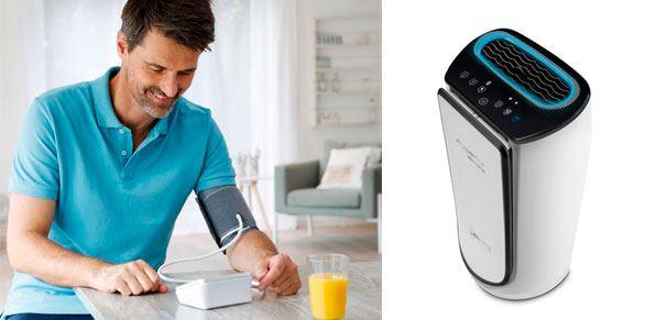 salud en casa- tensiometro y purificador
