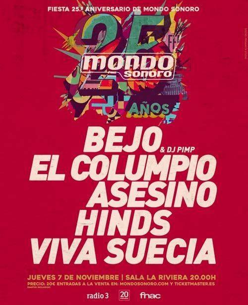 Cartels fiesta 25 Aniversario- Mondosonoro-Fnac