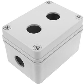Caja de control de dispositivos eléctricos BeMatik para 1 pulsador o interruptor de 22 mm beige