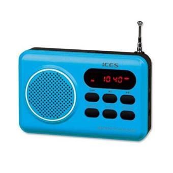 Ices IMPR-112 Portátil Azul - Radio (Ión de litio, Portátil, LED, FM, USB, Rojo)