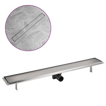 Desagüe lineal de ducha vidaXL, 930x140 mm Acero Inoxidable