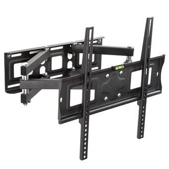 Soporte de pared para monitores de 26-55? 66-138cm inclinable y orientable nivel de aire, Negro