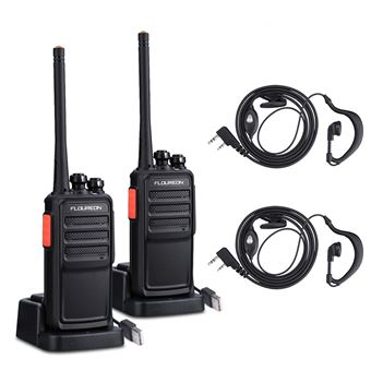 Conjunto de 2 Walkie Talkies Floureon A5 16CH PMR 446MHZ 2- Way Radio