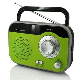 Ices IMPR-112 Green Portátil Verde - Radio (Ión de litio, Portátil, LED, FM, USB, Rojo)