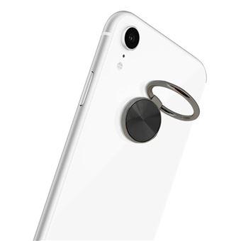 Anillo de sujeción Smartphone Espiral Brillante Soporte Vídeo, Negro