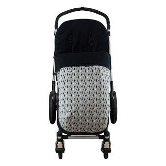 Saco universal Janabebé para silla de coche de abrigo polar Black Rayo