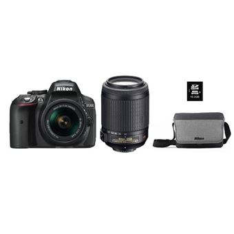 Pack Nikon D5300N + AFPDX18-55+55-200VR