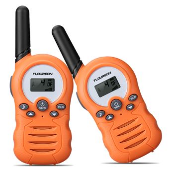 Conjunto de 2 Walkie Talkies Floureon FR388A 8CH PMR446MHZ 2-Way Radio 3300M,Naranja