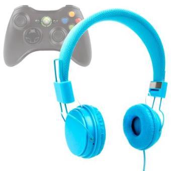 Auriculares Estéreo En Azul Con Micrófono Para XBOX 360 - Con Cable De 2 m Por DURAGADGET