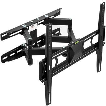 Soporte de pared para monitores de 32-55? 82-138cm inclinable y orientable nivel de aire, Negro