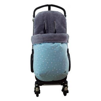 Saco universal Janabebé para silla de coche de abrigo polar Blue Sparkles