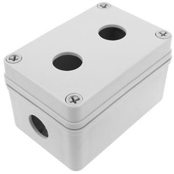 Caja de control de dispositivos eléctricos BeMatik para 2 pulsador o interruptor de 22 mm gris 65mm