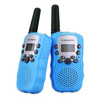 Conjunto de 2 Walkie Talkies Floureon XF-388 8CH UHF400-470MHZ 2-Way Radio 3KM, Azul