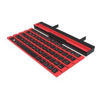Teclado inalámbrico Portátil con carrete Bluetooth Ipad Rojo