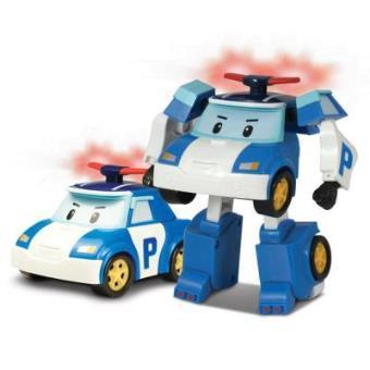 Ouaps Robocar Poli - Vehículo transformable luminoso Roy 13 cm