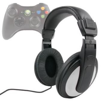 Auriculares Estéreo En Negro + Blanco Para XBOX 360 - Cable De 2 m + Clavija Jack 6.5 mm Por DURAGADGET