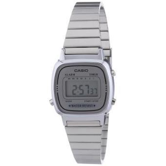 de31e486674a Casio LA670WEA-7EF - Reloj digital de cuarzo para mujer con correa de acero  inoxidable