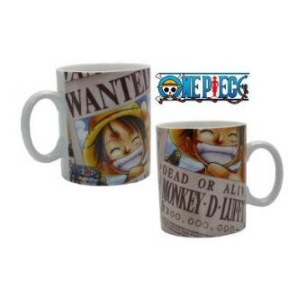 Taza One Piece Luffy Wanted - Tazas y vasos  357442cb00be