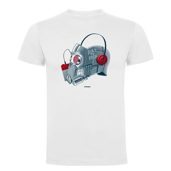 Camiseta manga corta Friking, Modelo 787 Marvel, Born to Rock, Talla L, Blanco
