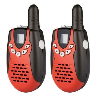 Conjunto de 2 Walkie Talkies M602 8CH Twin UHF400-470MHZ 2-Way Radio 3KM, Rojo