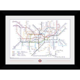 Fotografia enmarcada Transport For London Mapa del Metro
