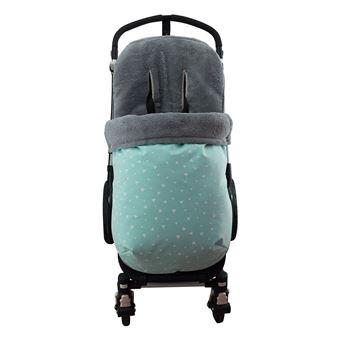 Saco universal Janabebé para silla de coche de abrigo polar Mint Sparkles