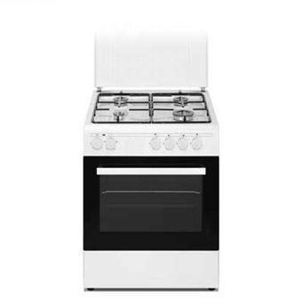 Cocina a Gas HVG 50 cm, 4 fuegos, horno a gas, acabado blanco