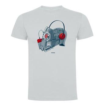 Camiseta manga corta Friking, Modelo 787 Marvel, Born to Rock, Talla L, Gris perla