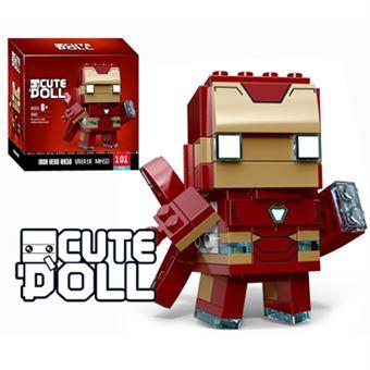 Figura Decool CuteDool Mini 9cm Puzzle Mega Bloks Marvel, Iron Man Nano Armor