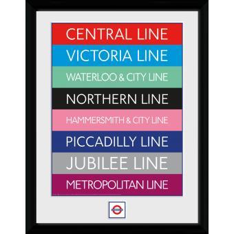 Fotografia enmarcada Transport For London Líneas