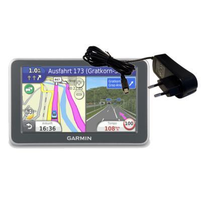 Enchufe Europeo Con ConexiĂłn miniUSB Para Navegador GPS Garmin NĂźvi 3590 LMT / Edge 810 Por DURAGADGET